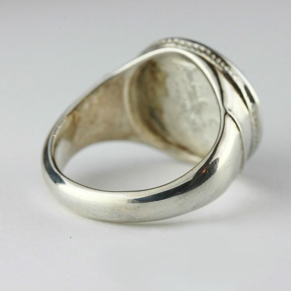 silver925 736D replica roman coin ring A-Pius Silver 925 replica pebbles ring a-Pius