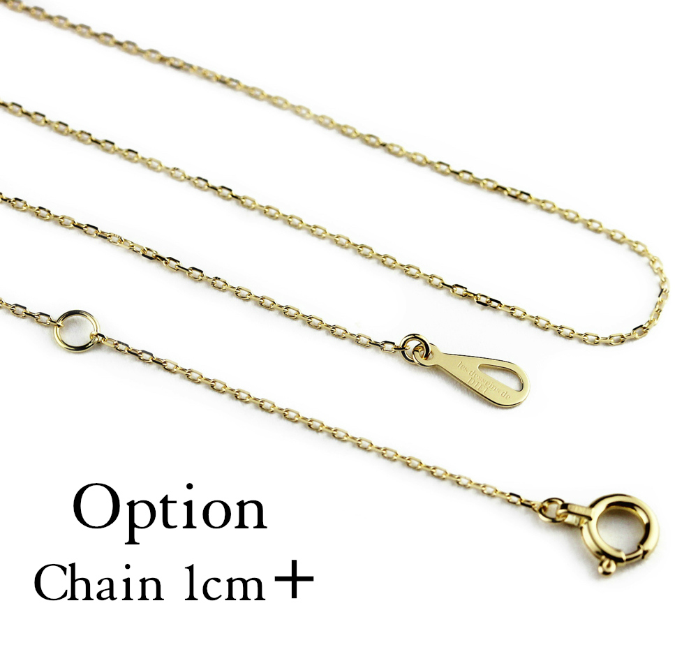 7e0a3ac490 K18 YG option chain length add 1 cm or 1 cm more redessandudew Necklace  chain+1 cm les desseins de DIEU slender necklace simple skin j jewelry chain  only ...