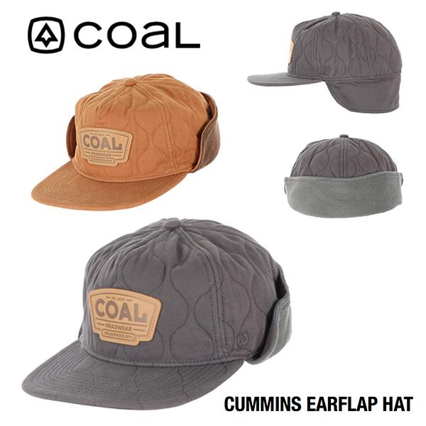 どこにもないオリジナルの型とデザインのCOAL 使い勝手の良い COAL CUMMINS CAP イヤーフラップ コール 耳付き 卓出 キャップ