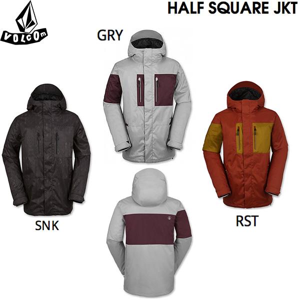 HALF メンズ ボルコム スノーボード 【SALE】VOLCOM JKT 男性 ジャケット SQUARE