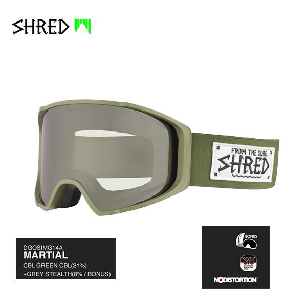 Shredゴーグルを選ばずして世界を見る良い方法はありません 送料無料 正規品 SHRED シュレッド SIMPLIFY シンプリファイ ゴーグル GOGGLE MILITARY MARTIAL + GREEN BONUS LENS スノーボード 17-18 ついに入荷 卓抜