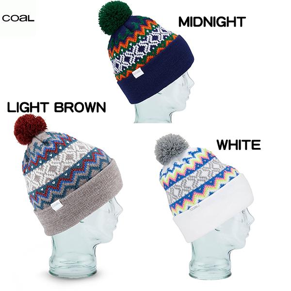 18-19 COAL コール WINTERS トレンド LIGHT BROWN 正規品 ニット帽 WHITE ビーニー トラスト MIDNIGHT