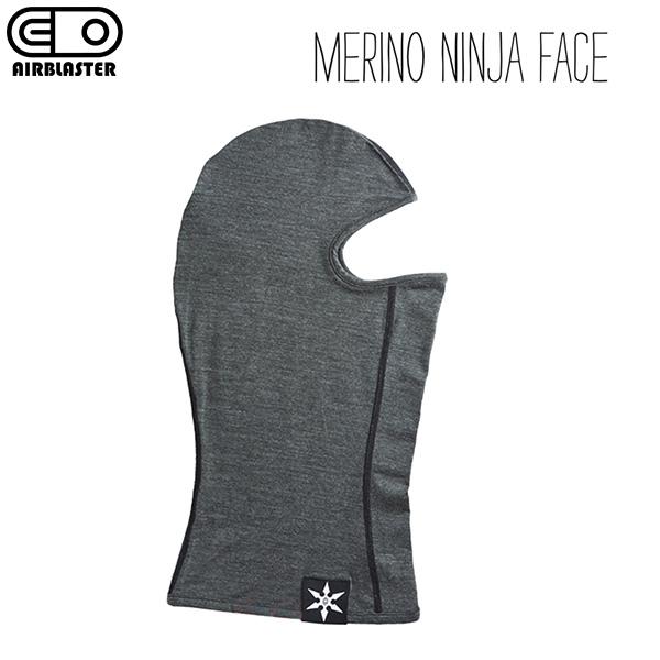 メリノウール素材で暖かく臭わない AIRBLASTER MERINO NINJA FACE エアブラスター メリノ ニンジャ 全商品オープニング価格 全国どこでも送料無料 メリノウール マスク 高性能 バラクラバ 2021-22モデル フェイス 正規品