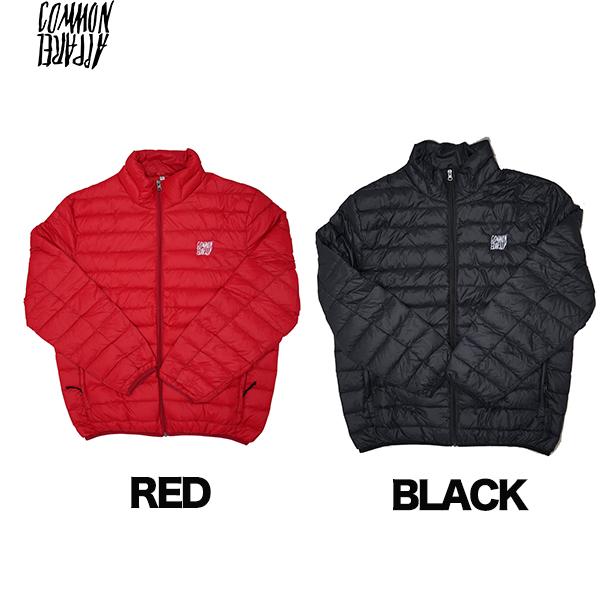 【18-19】COMMON コモン PUFF PASS DOWN JACKET ダウン ジャケット BLACK RED ブラック レッド アパレル スノーボード 正規品