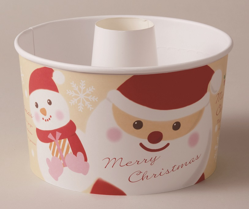 クリスマス2018 XS972 ロールシフォンカップ100枚 (スノーサンタ)・ベーキングカップ・紙製・焼型・シフォンケーキ・お菓子・手作り・製菓用品