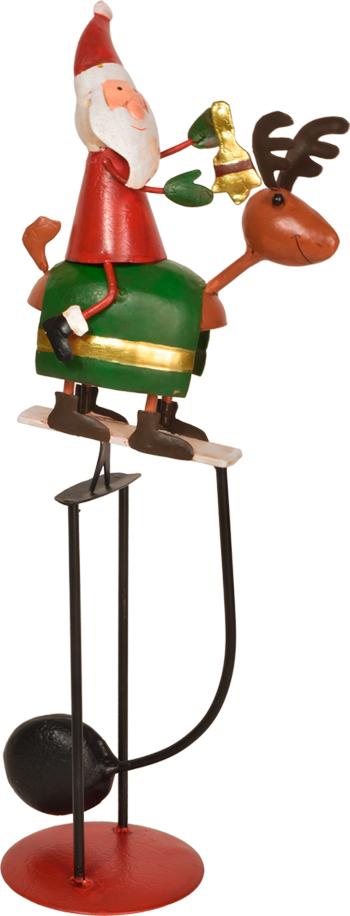 風や振動などの小さな揺れでスイングする トナカイに乗ったサンタのアンティークバランス お店のウンポイントとして ディスプレイにいかがですか ポイント5倍 SS期間限定 好評 展示品30%オフ クリスマス YK-51バランススマイルサンタクリスマス 今季も再入荷 業務用 ディスプレイ アンティークバランス おもちゃ 飾り お菓子 かざりデコレーション スイング