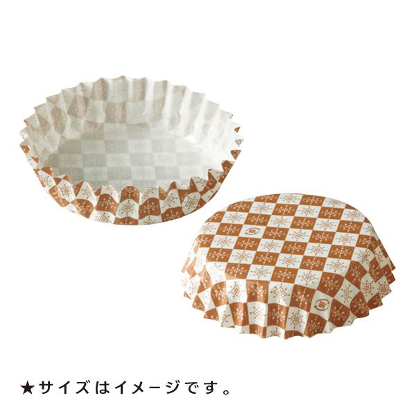 ペットカップ 丸型 新色追加して再販 7.5cm×高さ2.25cm 茶ブロック 定価 300枚入 純白ペット 紙 PTC07522B-300 マドレーヌカップ