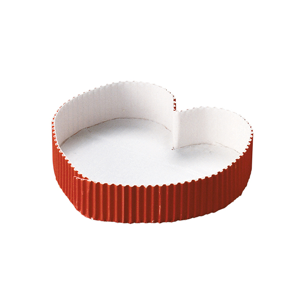 ファンシーミニ 送料無料 新品 ベーキングカップ ハート型 赤 25枚入 パウンドケーキ型 FA03-25 チーズケーキ ラッピング無料 ブランデーケーキ ベーキングトレー パウンド