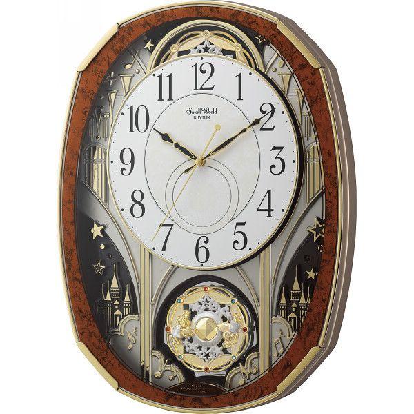 スモールワールド メロディ電波からくり時計(30曲入)(4MN513RH23)(送料無料)