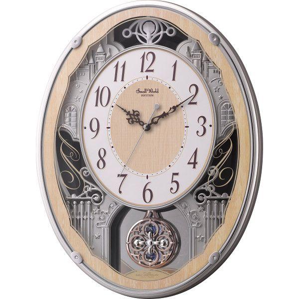 スモールワールド メロディ電波掛時計(30曲入)(4MN538RH23)(送料無料)