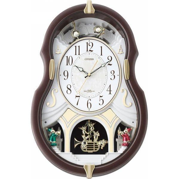 シチズン メロディ電波掛時計(12曲入)(4MN496AZ06)(送料無料)