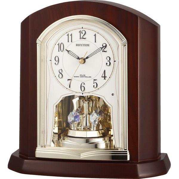 リズム 木枠電波置時計(4RY702SR06)(送料無料)