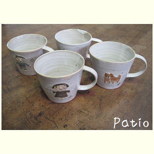 手作り陶器 マグカップ 4個セット