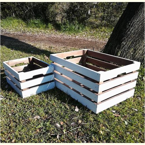 大人が10人乗れる 新入荷 流行 頑丈でシンプルな何でも収納ボックス 5☆好評 アンティークウッドの木製収納ボックス 大2個セット 小 エイジング