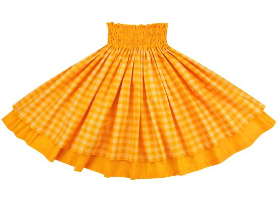 【おトク】 【送料無料】【ダブルパウスカート】黄色のパラカとゴールドの無地 【丈とゴム本数が選べる】 dpau-2028yw-gold-TI, TIREHOOD(タイヤフッド) b4c93548