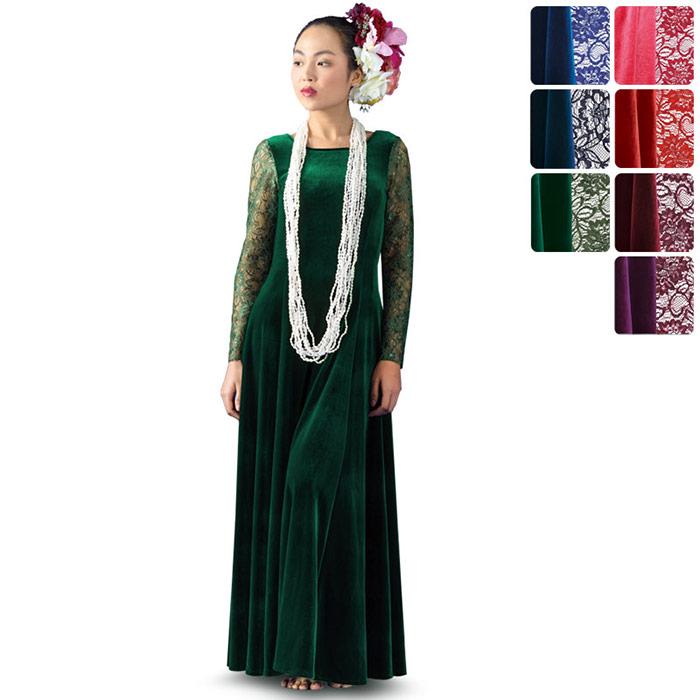 【送料無料】【オーダーメイド】 ベルベット スリーブレス・フラドレス omds-81001ds 【7色×10サイズから選べる】フラダンス衣装