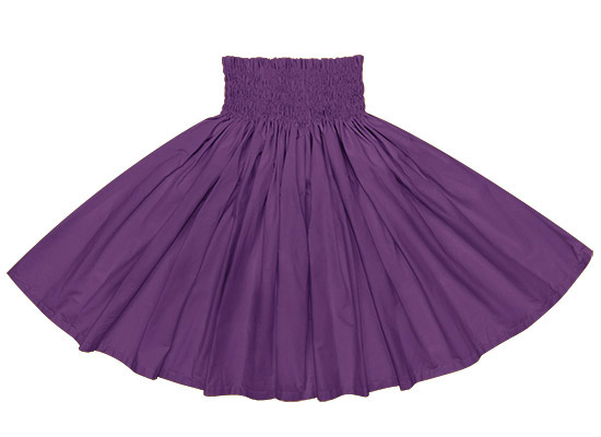 コットン100%★フラダンス衣装 紫の無地パウスカート spau-muji-ctc7500 【大人から子どもまで丈が選べる】