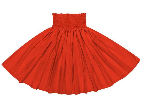 コットン100%★フラダンス衣装 赤の無地パウスカート spau-muji-crc7500 【大人から子どもまで丈が選べる】