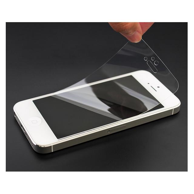 高い衝撃吸収性能を実現高い透明度で映像を色鮮やかに美しく再現貼りやすい 特売 汚れにくい 傷つきにくい ギフ_包装 公式 パワーサポート 衝撃吸収クリスタルフィルム iPhone 5 高透明 5c SE ツルツル 5s