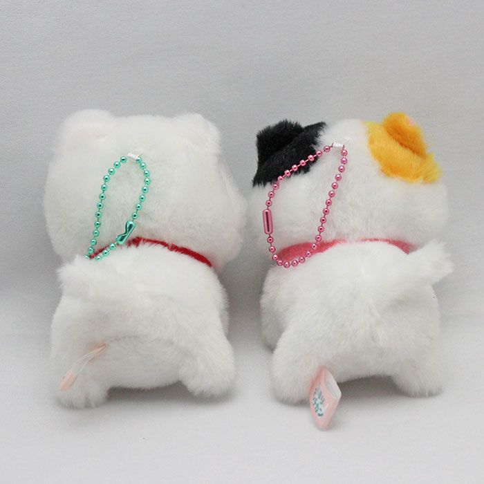 【LMC】ちんまりマンチカンぬいぐるみ【猫柄三毛猫白猫マスコット】