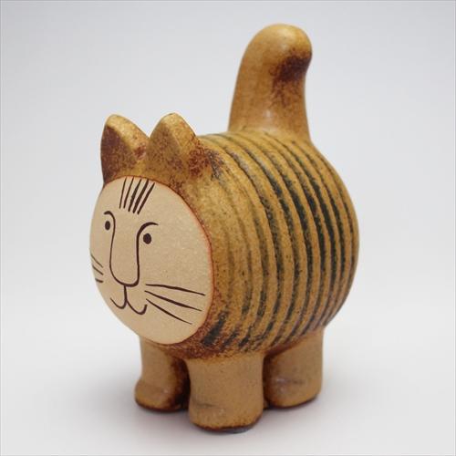 dieci CAT(ディエチ キャット)ブラウン 北欧 Lisa Larson(リサ・ラーソン)リサラーソンのかわいい猫のオブジェ(陶器のおしゃれな置物) H12.2cm