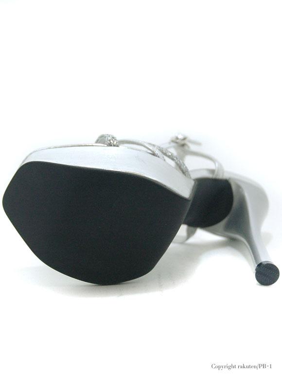 PB-1SELECT サンダル(靴) PB-1 セレクト キャバドレス ナイトドレス シルバー 22.5 23.5 24.5 54 スナック クラブ キャバクラ かわいい 厚底 靴のみ