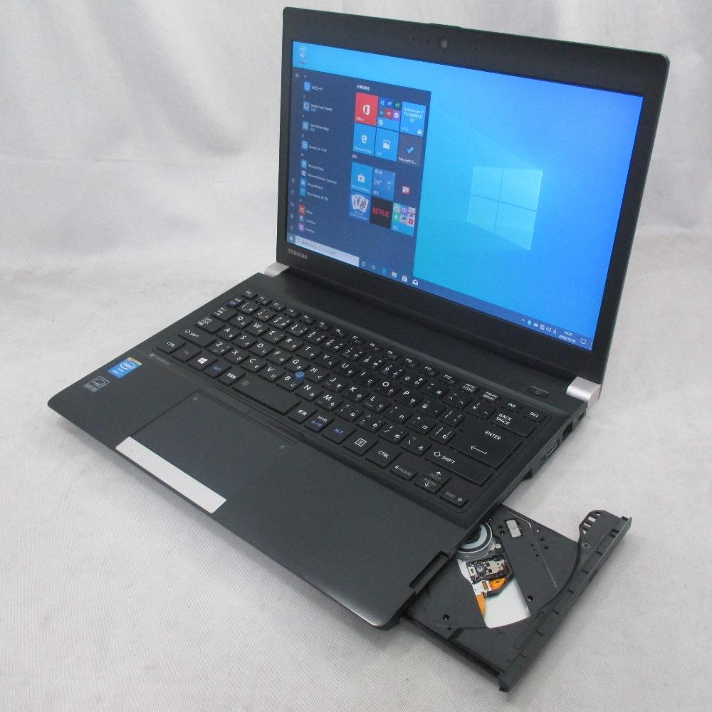 中古パソコン スーパープレミアムノート TOSHIBA dynabook R734/K /13インチ/Windows10/Core i7/メモリ16GB/SSD256GB/DVD/Webカメラ/