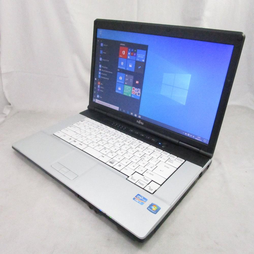 送料無料 中古パソコン プレミアムノート LIFEBOOK E741/E /15インチ/Windows10/Core i7/メモリ8GB/新品SSD256GB/DVD/