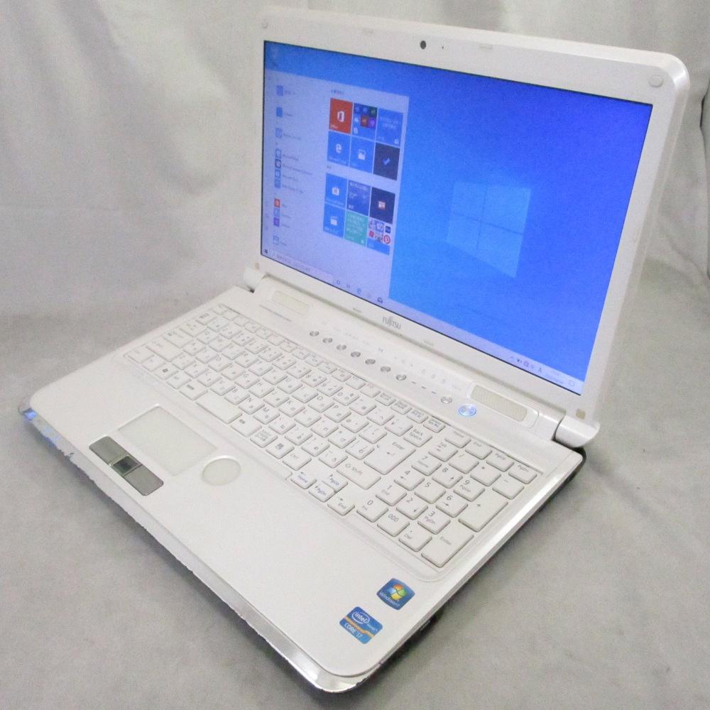 送料無料 中古パソコン ノート FUJITSU LIFEBOOK AH77/D /15インチ/Windows10/Core i7/メモリ8GB/HDD320GB/Webカメラ/ブルーレイ/