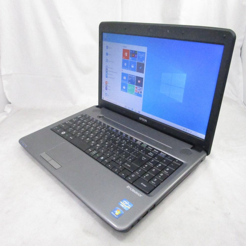 中古パソコン ノート EPSON Endeavor NJ5500 /15インチ/Windows10/Core i7/メモリ8GB/HDD640GB/
