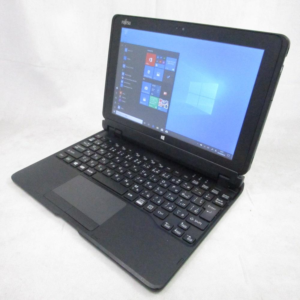 送料無料 中古タブレット FUJITSU ARROWS Tab Q506/NB /10インチ/Windows10/Atom/メモリ4GB/SSD128GB/Webカメラ/