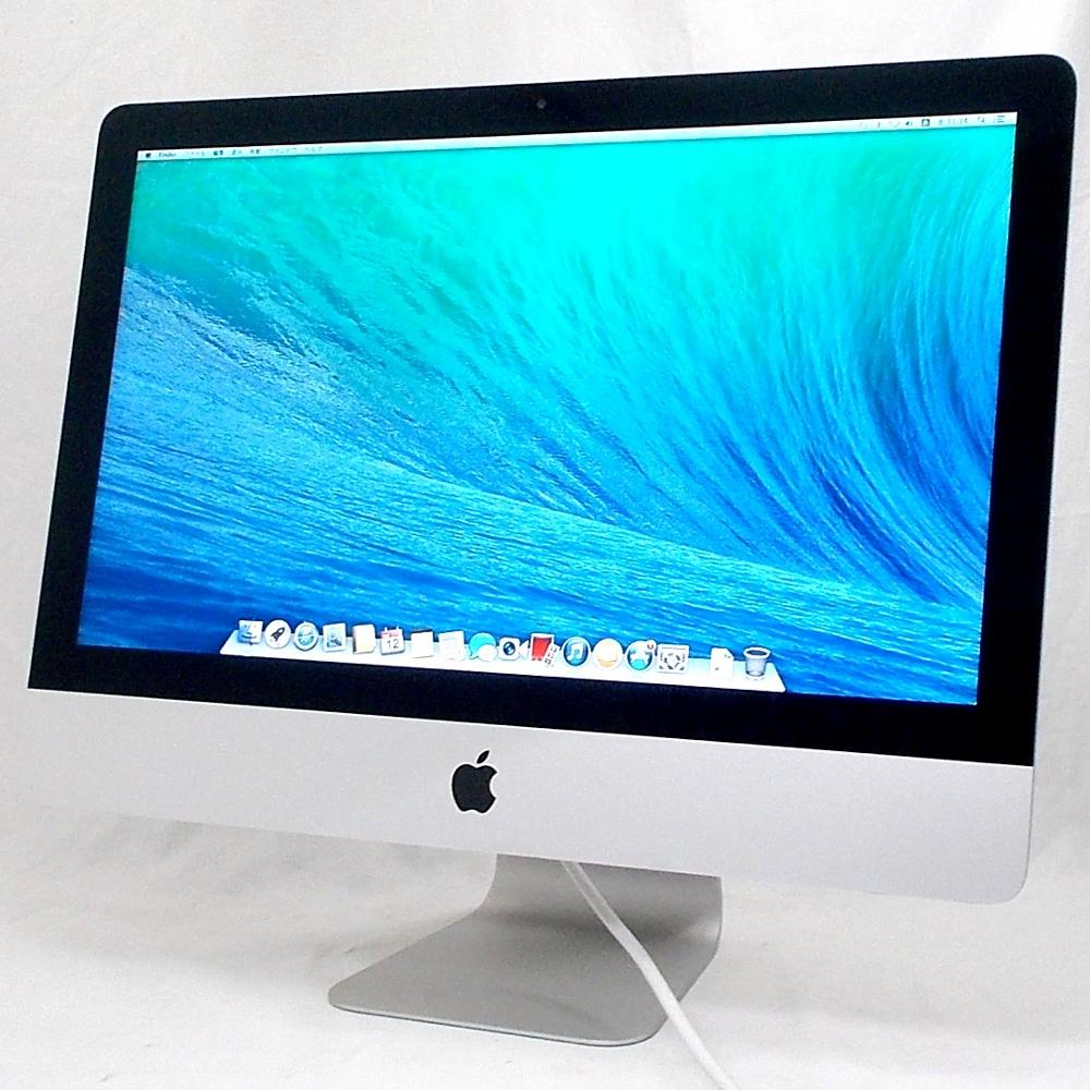 送料無料 中古パソコン 一体型 Apple iMac Late2013 /21.5インチ/OS X 10.9.5/Core i5/メモリ8GB/HDD1000GB/Webカメラ/DVD/