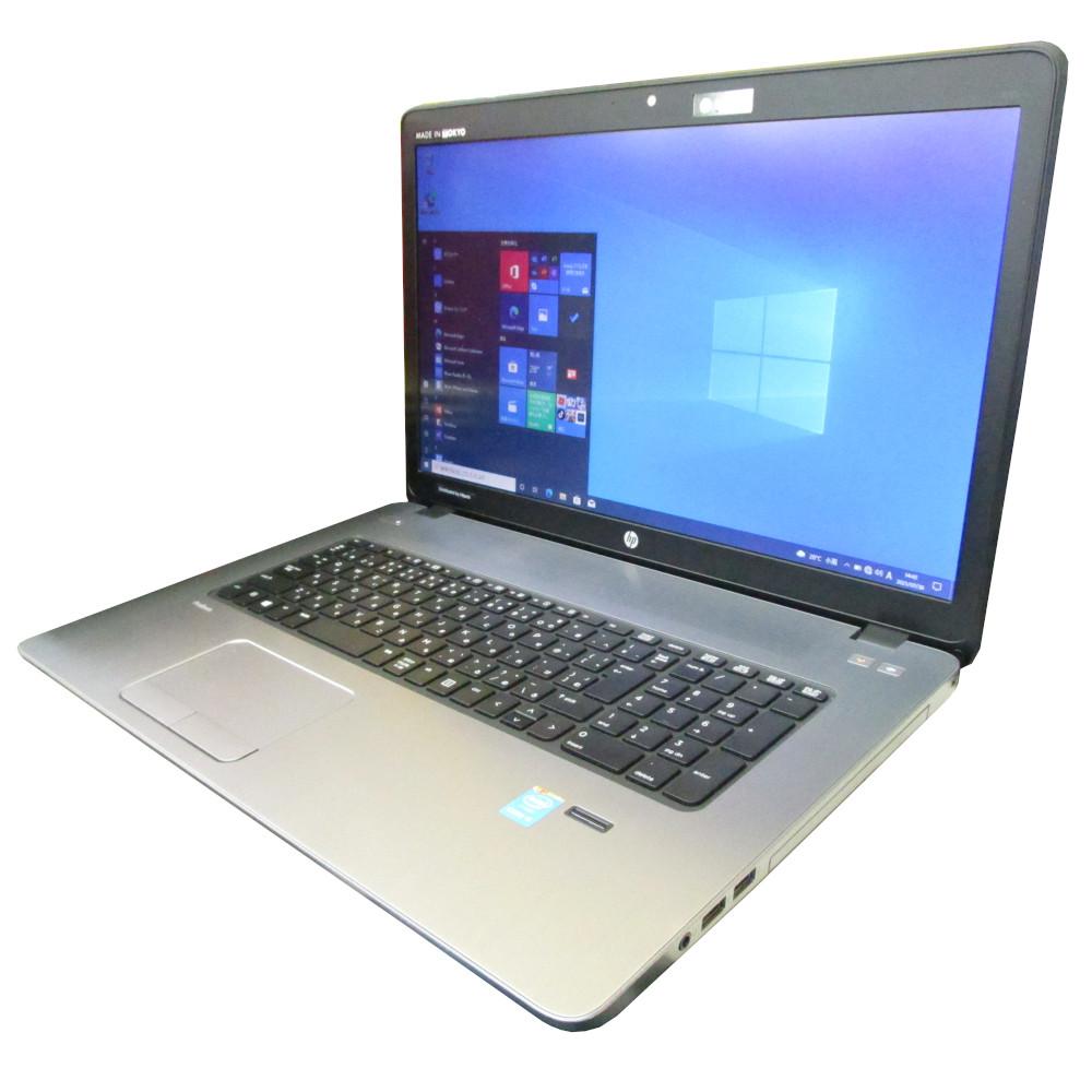 ド迫力大画面ノート 快速プレミアム仕様 中古 プレミアム ノート パソコン hp ProBook 470 メモリ8GB G2 Webカメラ 賜物 価格交渉OK送料無料 i3 Windows10 DVD Core 新品SSD256GB 17インチ