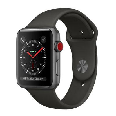【送料無料】当社1ヶ月間保証[中古Bランク]■Apple Apple Watch Series 3 GPS+Cellularモデル 42mm MR302J/A 【スペースグレイアルミニウム/グレイスポーツバンド】【周辺機器】中古【中古】 【 中古スマホとタブレット販売のイオシス 】
