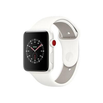【送料無料】当社1ヶ月間保証[中古Bランク]■Apple Apple Watch EDITION Series3 GPS+Cellularモデル 38mm (MQM32J/A) ソフトホワイト/ペブルスポーツバンド【周辺機器】中古【中古】 【 中古スマホとタブレット販売のイオシス 】