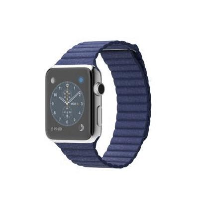 【送料無料】当社1ヶ月間保証[未使用品]■Apple Apple Watch 42mm (MJ462J/A) 【ステンレススチール/ブライトブルーレザーループ】【周辺機器】中古【中古】 【 中古スマホとタブレット販売のイオシス 】