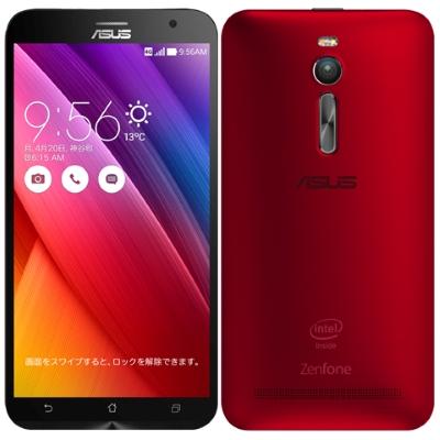 SIMフリー ASUS ZenFone2 (ZE551ML-RD32S4) 32GB Red 【RAM4GB 国内版 SIMフリー】[中古Cランク]【当社3ヶ月間保証】 スマホ 中古 本体 送料無料【中古】 【 中古スマホとタブレット販売のイオシス 】