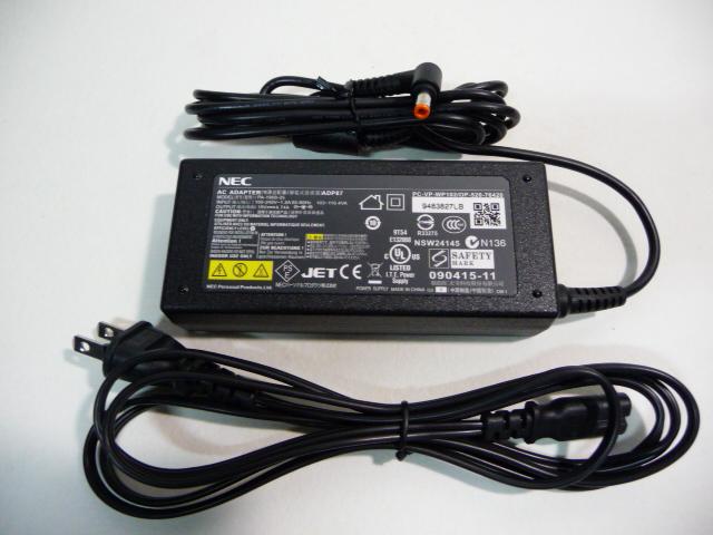 中古 NEC純正品 売れ筋 ADP87 ADP87B ADP-90YB E PC-VP-WP102 PC-VP-WP133 C 19V-4.74A用ACアダプター全機種対応 送料無料/新品 PA-1900-35 PC-VP-WP129