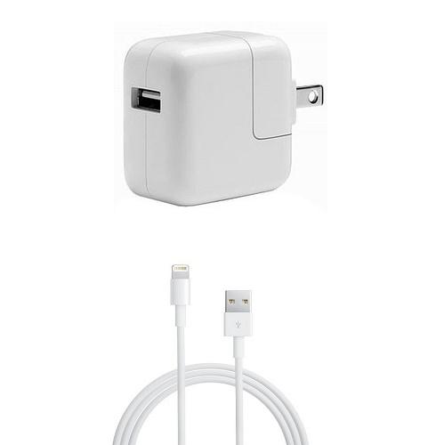 配送員設置送料無料 中古 純正Apple アップル 12W USB充電器Lightningケーブル 1m 2点セット品 iPad A同等iPad標準同梱品 DC5.2V おしゃれ 2.4A急速充電器A1401 Pro mini MD836LL Air iPhone等
