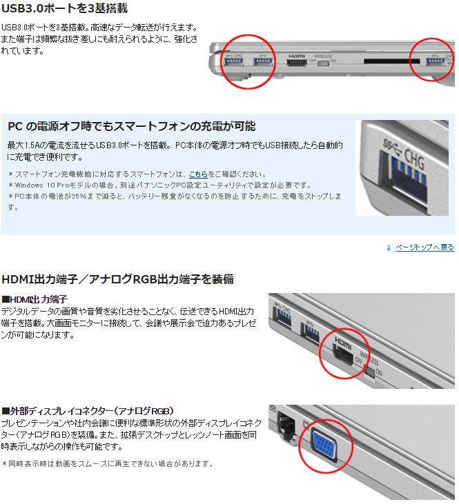 在宅勤務対応PanasonicLet'snoteCF-SZ5第六世代Core-i5RAM:8GBSSD:256GBUSB3.0WebカメラHDMI中古パソコンノートパソコンWin10モバイルパソコンWindows10Proパナソニック在宅ワークテレワーク
