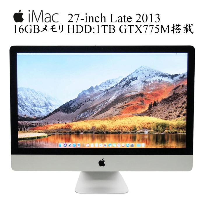 Apple iMac A1419 27-inch 第四世代Core i5-4570 3.2GHz 16GBメモリ 1TBストレージ 2560x1440 2K解像度 GT755M アップル 10.14Mojave 中古一体型AIO 中古デスクトップパソコン iMac14,2 EMC2639 ME088LL/A