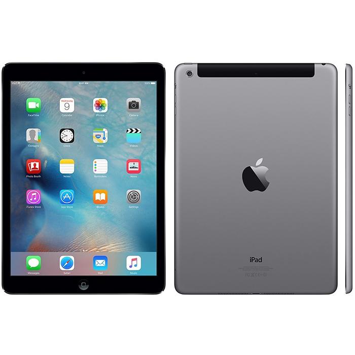 APPLE iPad Air A1475 9.7インチ Retinaディスプレイ WI-FI+Cellular(Softbank)セルラーモデル 16GB グレー 黒 中古タブレット 中古iPad アイパッドエアー