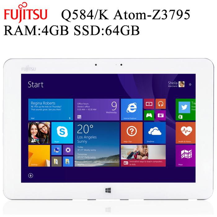 【訳アリ】安心日本製タブレット 富士通 Arrows Tab Q584/K 10.1型 2K解像度(2560x1600) RAM:4GB SSD:64GB タッチ Wi-Fi Bluetooth スタイラスタッチペン付き 中古タブレット 中古パソコン タブレットPC Tablet Windows10 Pro