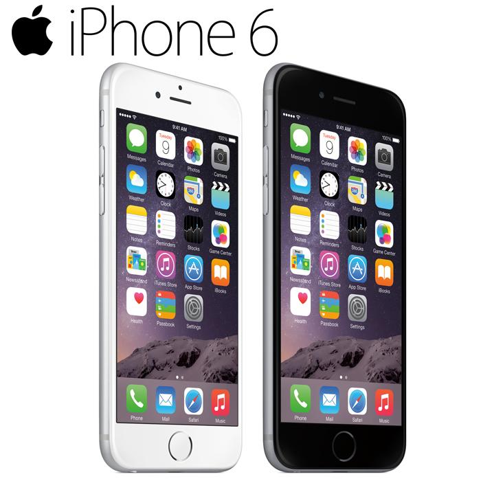 iPhone6 16GB 白ロム AU 4.7インチ 2色選べる 充電アダプタ付 Retina HDディスプレイ Touch ID 中古スマホ アップル APPLE 中古アイフォン