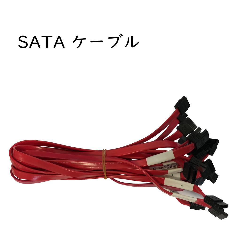 SATAケーブル デスクトップPC用 赤/青/黒三色混ぜ 10本セット