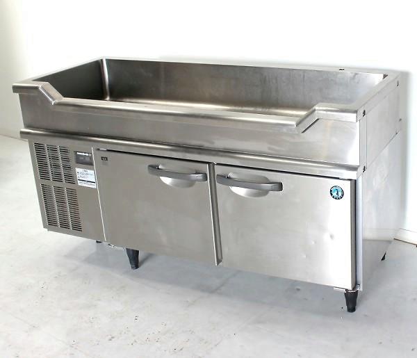 ホシザキ 舟形シンク付きコールドテーブル RW-150SNC-T 舟形冷蔵庫【中古】
