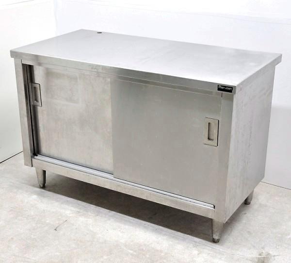 マルゼン 引戸付作業台 業務用 ステンレス製 W1200xD600xH800【中古】
