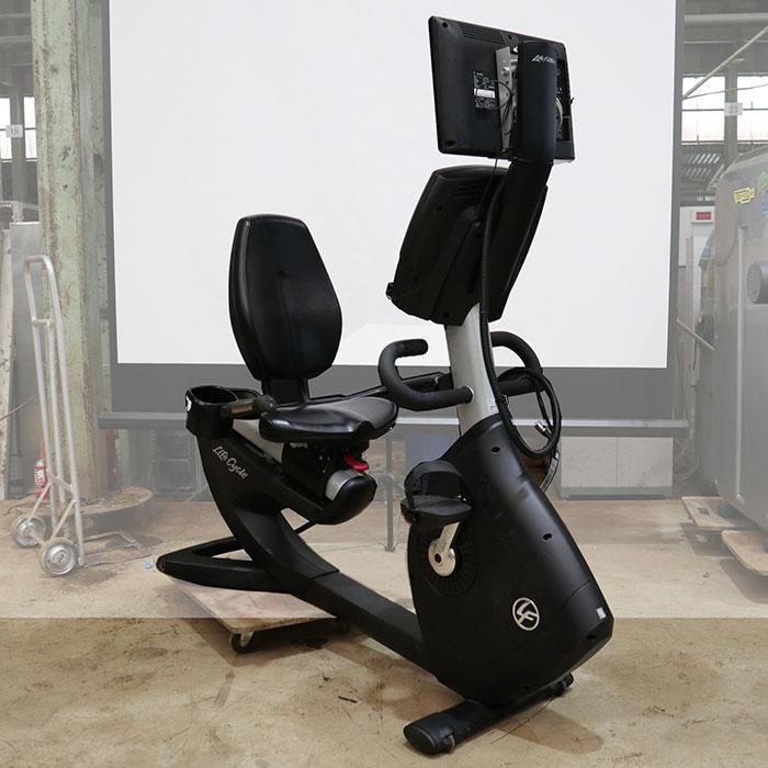 ライフフィットネス リカンベントバイク エアロバイク 95R115 ジム エクササイズ フィットネス トレーニング マシン 【中古】