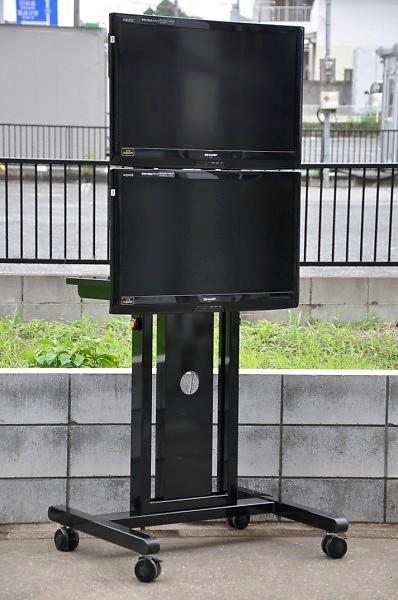 シャープ AQUOS 32V型液晶カラーテレビ LC-32V5/2台 スタンド付 2011年【中古】