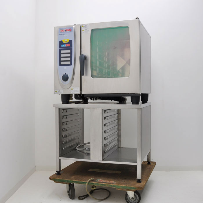 ラショナル 業務用 スチームコンベクションオーブン オーブン スチコン SCC61 架台付き 2004年【中古】